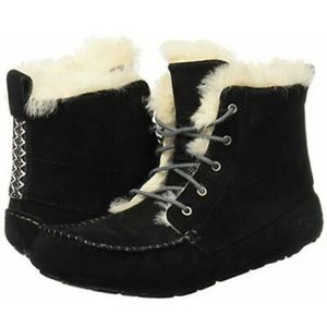 UGG Black Chickaree Moccasin Booties
